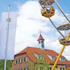 Das Riesenrad weist den Weg zur Messe